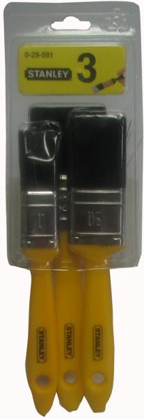 סט מברשות צבע,ידית פלסטיק STANLEY 0-29-591