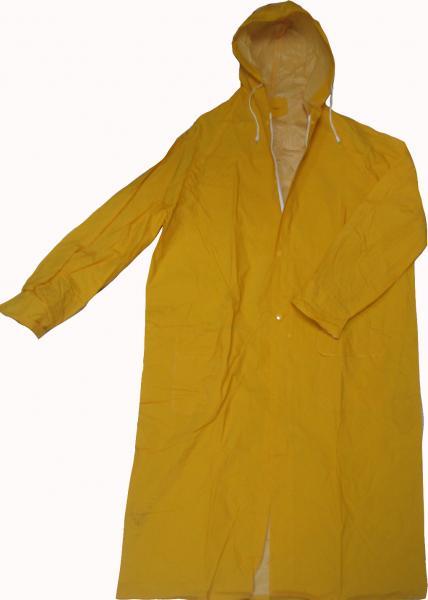 מעיל גשם ארוך עם בטנה ירוק/צהוב