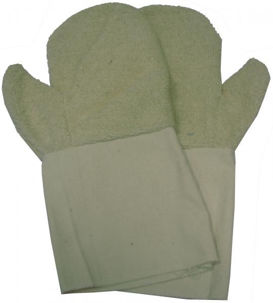 כפפות מגבת לחום מקצועיות ארוכות ללא אצבעות (שלמות) עם מנג'ט