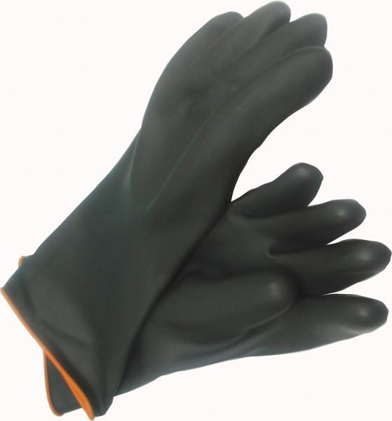 """כפפות ניאופרן 35 ס""""מ שחור לכימיכלים"""