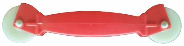 גלגליה כפולה ניילון / פלסטיק אדומה p.p