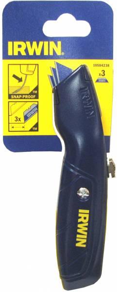 סכין זזה כחולה + 3 להבים IRWIN 10504238