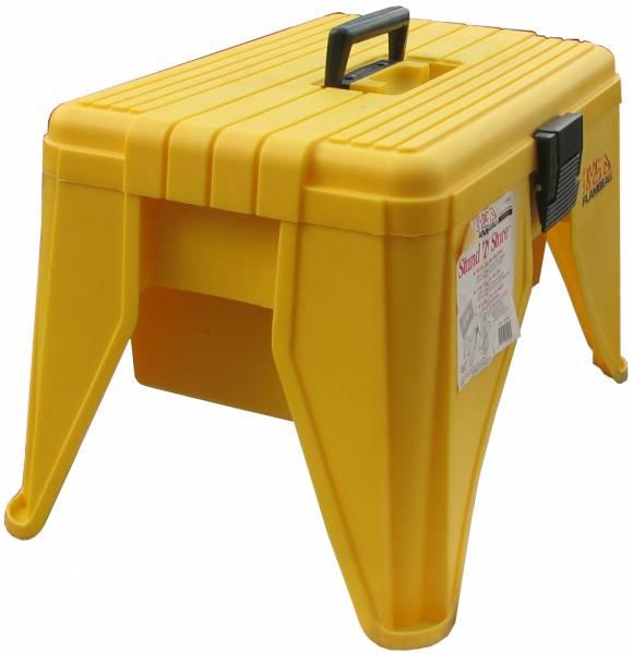 שרפרף כלים עם תא      22502 צהוב