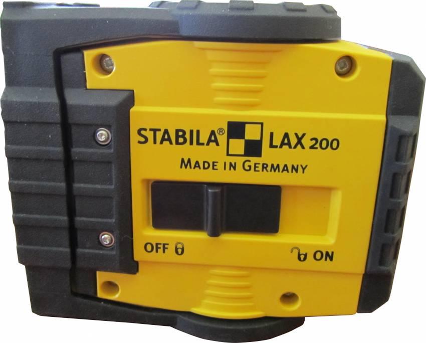 מכשיר פילוס (צלב) ציפוי גומי STABILA LAX 200