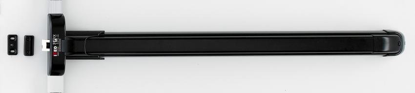 """ידית בהלה פוש-בר שחור 117 ס""""מ ISEO 942411755T"""
